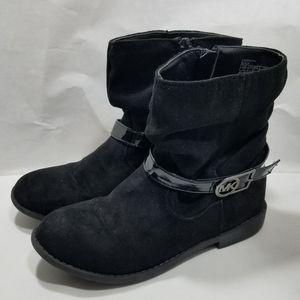 Michael Kors Girls Suade Black Boots Size 13